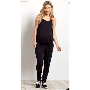 PinkBlush Black Sleeveless Maternity Jumpsuit New